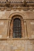 Vertical View Of Exquisite Romanesque Window In San Isidoro Church