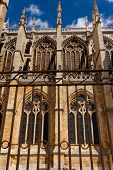 Vertical View Of Flying Buttresses In The Cathedral Of Leon Spain