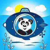 Panda On A Submarine