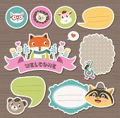 Cute cartoon animals gift tags & stickers