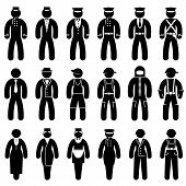 Peoples uniform icons