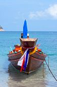 Thailand Ship And Sea Landscape
