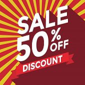 Sale 50% off discount