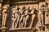 Erotic Temple In Khajuraho. India.