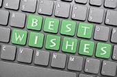 Green best wishes on keyboard