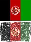 Afghanistan grunge flag. Vector illustration