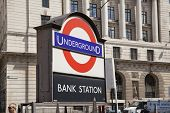 LONDON, UK - JUNE 30, 2014  Bank of England  Square and underground station