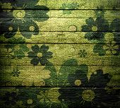 vintage floral wood wall texture