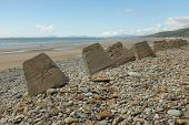 Fairbourne Sea Defences.