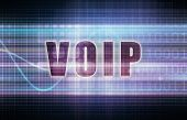 stock photo of voip  - VOIP on a Tech Business Chart Art - JPG