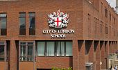 LONDON, UK - JULY 03, 2014  Famous private school in the centre of London, next to St  Pauls cathedr