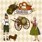 pic of pretzels  - Oktoberfest celebration Oktoberfest celebration design with Bavarian hat - JPG
