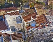 Greece, house roofs at Plaka old Athens center