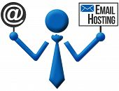 Email Hosting Human Icon