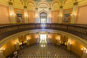 SACRAMENTO, CALIFORNIA - July 4, 2014:  Historic rotunda inside the California state capitol buildin
