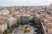 View of historical center of Valencia from an observation deck