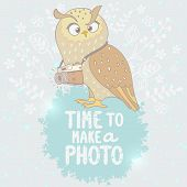 owl and camera