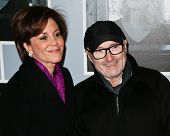 NEW YORK-JAN 12: Dana Tyler and Phil Collins (R) attend 'Beautiful - The Carole King Musical' Broadw