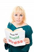Stressed Woman With Book