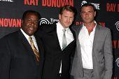 LOS ANGELES - JUL 9:  Wendell Pierce, Dash Mihok, Liev Schreiber at the