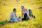 BIG ZAVIDOVO, RUSSIA - JULY 5: People attend open-air rock festival