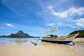 Tropical Beach In El Nido, Philippines