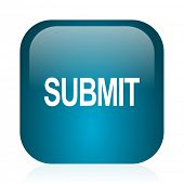 submit blue glossy internet icon