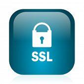 ssl blue glossy internet icon
