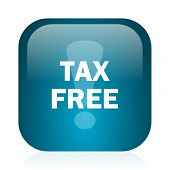 tax free blue glossy internet icon