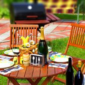 Outdoor Dining Scene