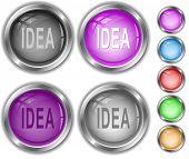 Idea. Raster internet buttons.