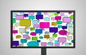 Desktop Monitor Display Conversation Color