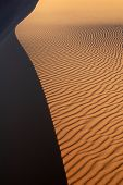 foto of barchan  - Sand dunes of Erg Chebbi in the Sahara Desert - JPG