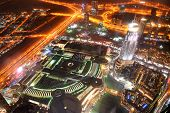 Dubai, Uae - September 10: Night View On Down Town Of Dubai City And Mall, On September 10, 2013, Du