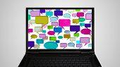 Laptop Monitor Display Conversation Color