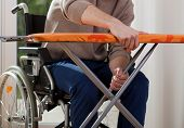 Disabled Breaks Down Ironing Board