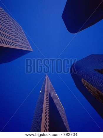 poster of city office buildings