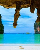 Exotic Beach Grotto Landscape