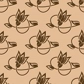Flower buds seamless pattern