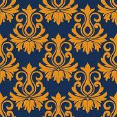 Symmetric golden flowers pattern