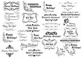 Christmas calligraphic lettering collection