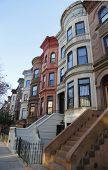 Famous New York City brownstones in Prospect Heights neighborhood in Brooklyn
