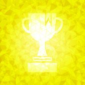 Award On Gold Dazzled Triangle Background