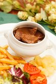 meat with french fries