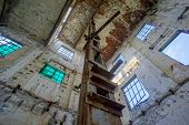 Abandoned Old Ruined Industrial Plant