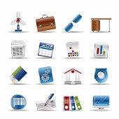 Realistisch Business en Office-pictogrammen