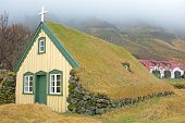 Traditional icelandic church on Iceland