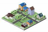 Residential house buildings