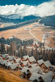 houses in the Carpathian mountains