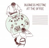 Business meeting at the office - sketch